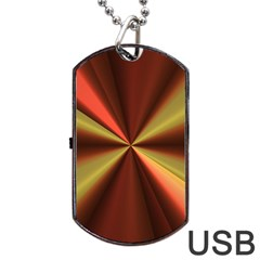 Copper Beams Abstract Background Pattern Dog Tag USB Flash (One Side)