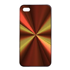 Copper Beams Abstract Background Pattern Apple Iphone 4/4s Seamless Case (black)