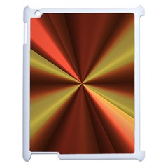 Copper Beams Abstract Background Pattern Apple iPad 2 Case (White)