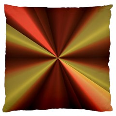 Copper Beams Abstract Background Pattern Large Cushion Case (Two Sides)