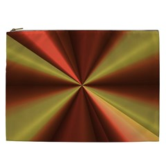 Copper Beams Abstract Background Pattern Cosmetic Bag (xxl)