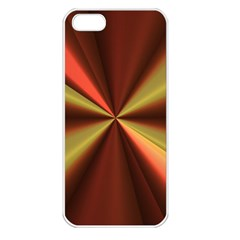 Copper Beams Abstract Background Pattern Apple iPhone 5 Seamless Case (White)