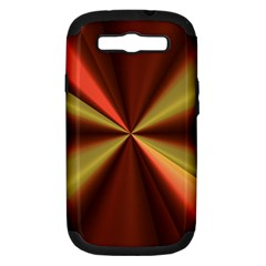 Copper Beams Abstract Background Pattern Samsung Galaxy S III Hardshell Case (PC+Silicone)