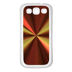 Copper Beams Abstract Background Pattern Samsung Galaxy S3 Back Case (White)