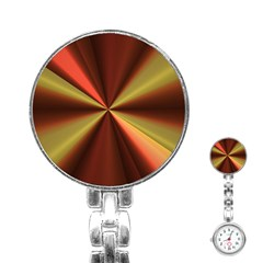 Copper Beams Abstract Background Pattern Stainless Steel Nurses Watch