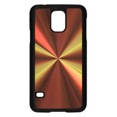 Copper Beams Abstract Background Pattern Samsung Galaxy S5 Case (Black)