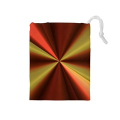 Copper Beams Abstract Background Pattern Drawstring Pouches (Medium)