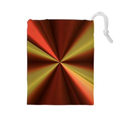 Copper Beams Abstract Background Pattern Drawstring Pouches (Large)