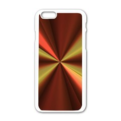 Copper Beams Abstract Background Pattern Apple iPhone 6/6S White Enamel Case