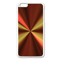 Copper Beams Abstract Background Pattern Apple iPhone 6 Plus/6S Plus Enamel White Case