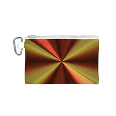 Copper Beams Abstract Background Pattern Canvas Cosmetic Bag (S)