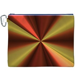 Copper Beams Abstract Background Pattern Canvas Cosmetic Bag (XXXL)