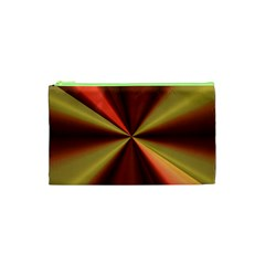 Copper Beams Abstract Background Pattern Cosmetic Bag (XS)