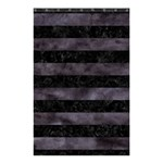 STRIPES2 BLACK MARBLE & BLACK WATERCOLOR Shower Curtain 48  x 72  (Small) 42.18 x64.8 Curtain