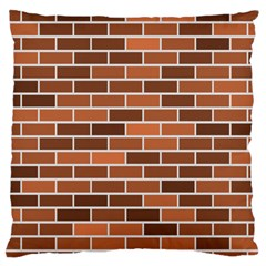 Brick Brown Line Texture Standard Flano Cushion Case (two Sides)