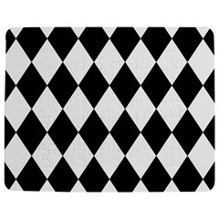 Broken Chevron Wave Black White Jigsaw Puzzle Photo Stand (rectangular)