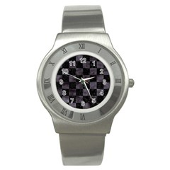 Square1 Black Marble & Black Watercolor Stainless Steel Watch