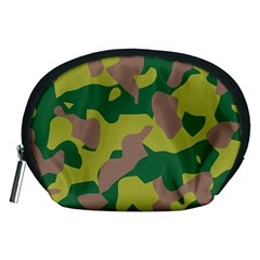 Camouflage Green Yellow Brown Accessory Pouches (medium)