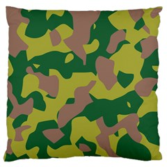 Camouflage Green Yellow Brown Standard Flano Cushion Case (one Side)