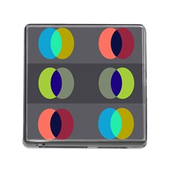 Circles Line Color Rainbow Green Orange Red Blue Memory Card Reader (square)
