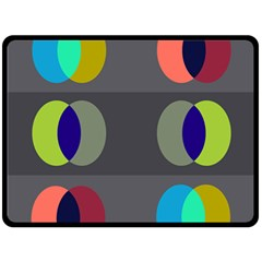 Circles Line Color Rainbow Green Orange Red Blue Double Sided Fleece Blanket (large)
