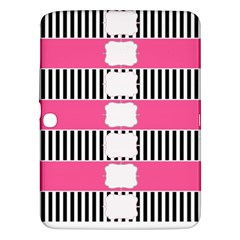 Custom Water Bottle Labels Line Black Pink Samsung Galaxy Tab 3 (10 1 ) P5200 Hardshell Case