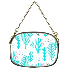 Forest Drop Blue Pink Polka Circle Chain Purses (one Side)