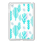 Forest Drop Blue Pink Polka Circle Apple iPad Mini Case (White) Front