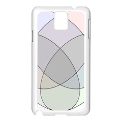 Four Way Venn Diagram Circle Samsung Galaxy Note 3 N9005 Case (white)