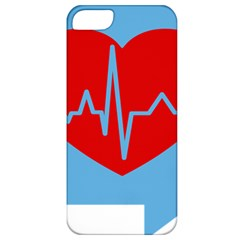 Heartbeat Health Heart Sign Red Blue Apple Iphone 5 Classic Hardshell Case