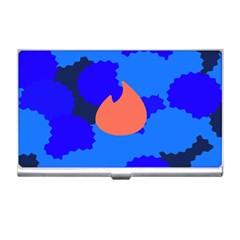 Image Orange Blue Sign Black Spot Polka Business Card Holders