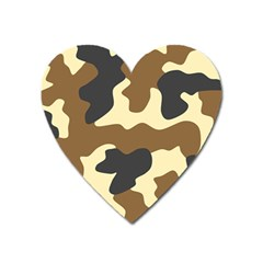 Initial Camouflage Camo Netting Brown Black Heart Magnet