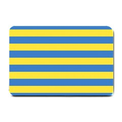 Horizontal Blue Yellow Line Small Doormat