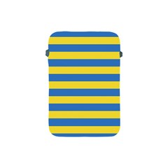 Horizontal Blue Yellow Line Apple Ipad Mini Protective Soft Cases
