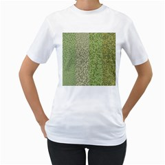 Camo Pack Initial Camouflage Women s T-Shirt (White) (Two Sided)