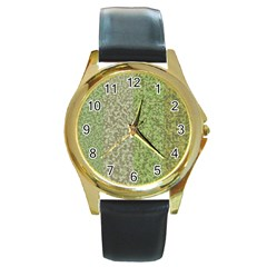 Camo Pack Initial Camouflage Round Gold Metal Watch