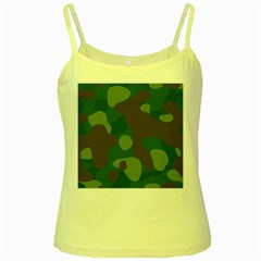 Initial Camouflage Como Green Brown Yellow Spaghetti Tank