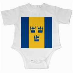 King Queen Crown Blue Yellow Infant Creepers