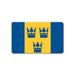 King Queen Crown Blue Yellow Magnet (Name Card)