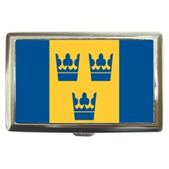 King Queen Crown Blue Yellow Cigarette Money Cases