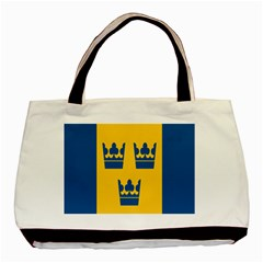 King Queen Crown Blue Yellow Basic Tote Bag