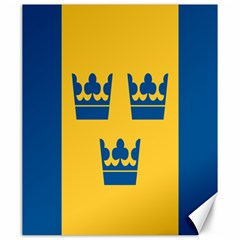 King Queen Crown Blue Yellow Canvas 20  x 24