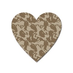 Initial Camouflage Brown Heart Magnet