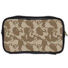 Initial Camouflage Brown Toiletries Bags