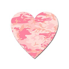 Initial Camouflage Camo Pink Heart Magnet