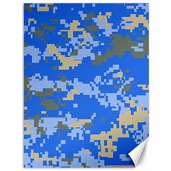 Oceanic Camouflage Blue Grey Map Canvas 36  x 48