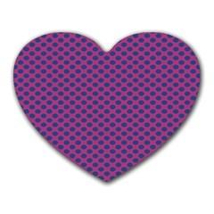 Polka Dot Purple Blue Heart Mousepads
