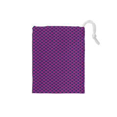 Polka Dot Purple Blue Drawstring Pouches (small)