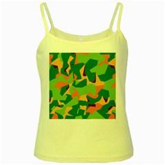 Initial Camouflage Green Orange Yellow Yellow Spaghetti Tank