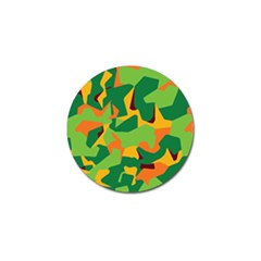 Initial Camouflage Green Orange Yellow Golf Ball Marker (10 pack)